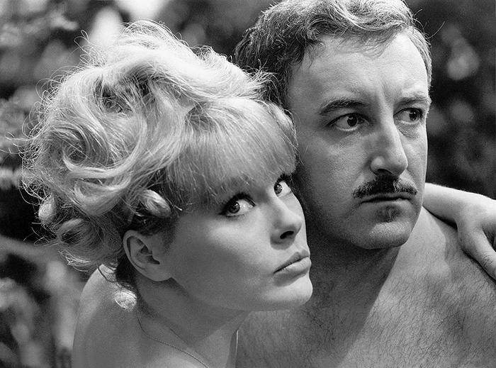 "Peter Sellers and Elke Sommer in ""A shot in the dark"" film"