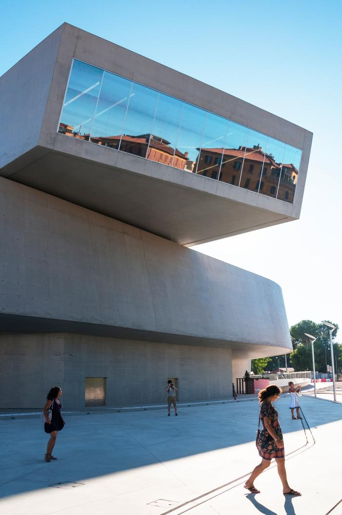Exterior of MAXXI Museum in Rome by Zaha Hadid