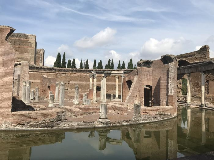 The remains of Villa Hadrian