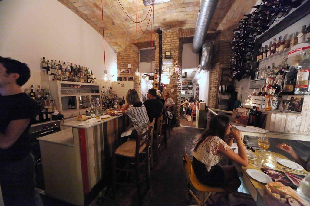 Inside the busy Sorpasso restaurant