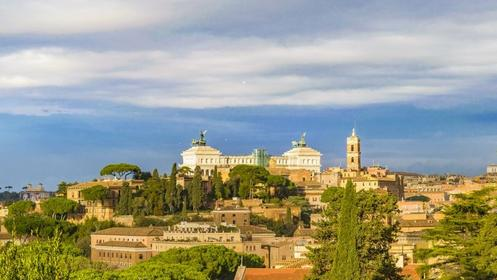 Aerial view from Aventino hill Rome