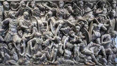 """Great"" Ludovisi sarcophagus, Palazzo Altemps, Rome"