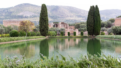 The Hadrian's Villa in Rome