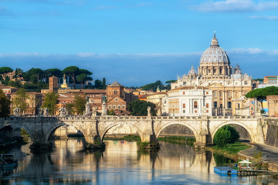 Rome Skyline with St.Peter Basilica