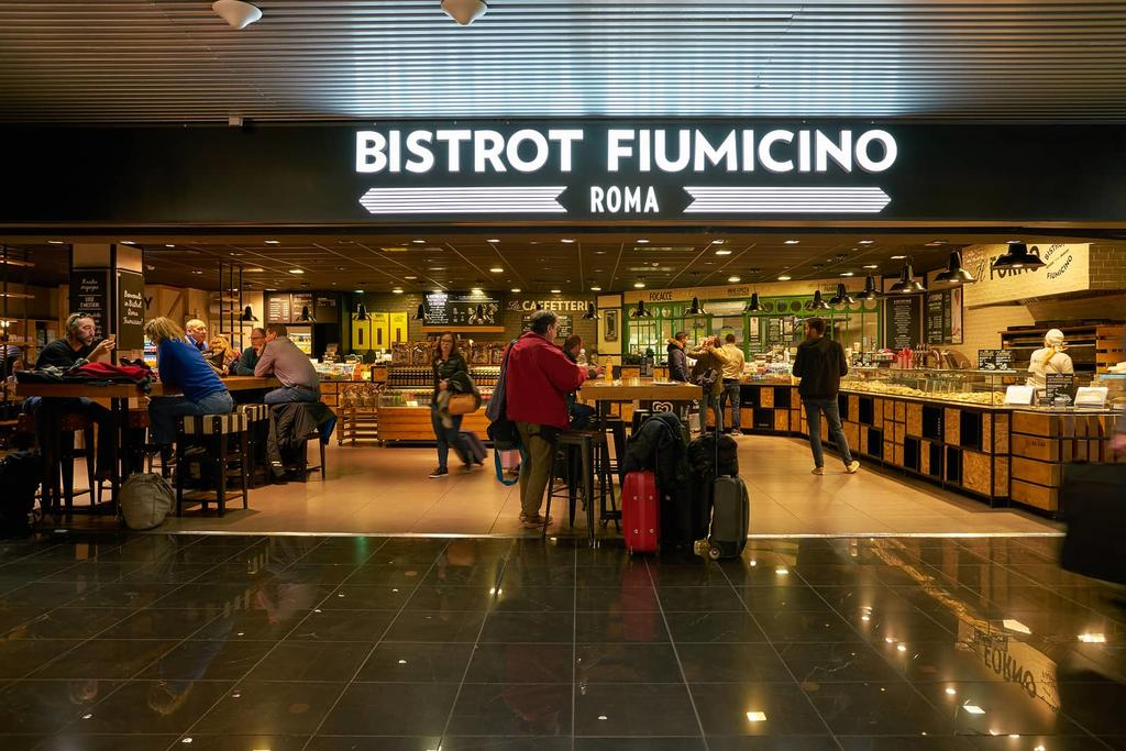 Bistro at Roma Fiumicino airport
