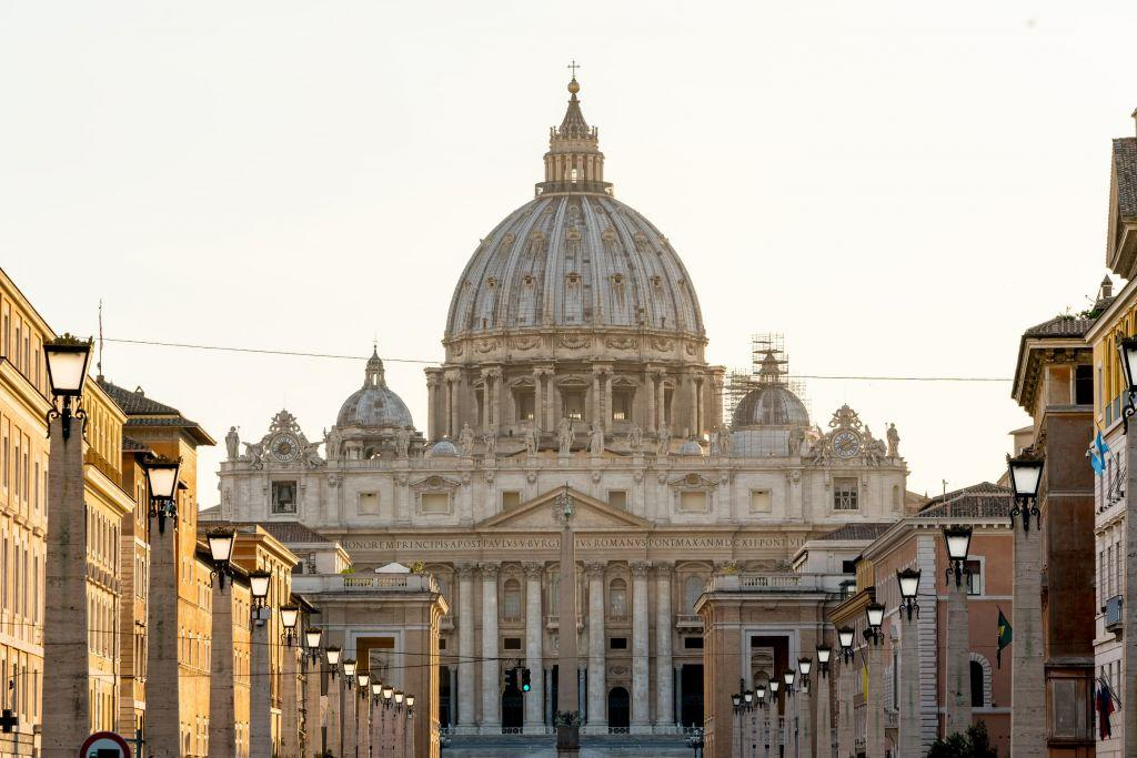 View of the St Peter's Cathedral Vatican Rome